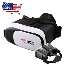 Virtual Reality VR Headset 3D Glasses With Remote for Android IOS iPhone UO