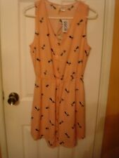 Mimi Chica Sundress Pink with black & White French Bulldogs Size Large