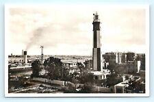 Postcard Egypt Port Said Lighthouse RPPC Real Photo K11