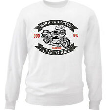 DUCATI 900 MIKE HAILWOOD 1 - COTTON WHITE SWEATSHIRT ALL SIZES IN STOCK