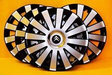 """14"""" Citroen C1, C2, C3, Berlingo.. rueda Adornos, cubiertas, Tapacubos, cantidad 4"""