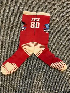 JERRY RICE SAN FRANCISCO 49ERS DRI FIT HALL OF FAME SOCKS TOP OF THE LINE