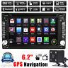 "HD 2 Din 6.2"" Navi Car Stereo DVD MP3 GPS Player Bluetooth Ipod TV Radio+Camera"