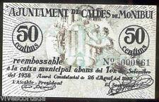 Ayuntamiento de CALDES DE MONTBUI 50 Centimos  @ Valles Occiodental - Barcelon @