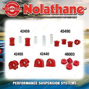 Front Nolathane Suspension Bush Kit for SUBARU LEONE L SERIES INCL RX TURBO