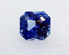 GIA Certified 1.90 ct Blue Asscher Cut Ceylon Sapphire.
