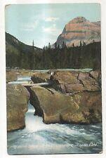 Kicking Horse River Bridge, FIELD BC, Vintage British Columbia Canada Postcard