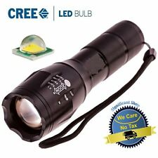 LED Tactical Military Flashlight Bright Cree Waterproof Zoom Grade Lumens X800