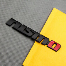 Matte Black Metal NISMO Rear Trunk Emblem GTR Sport Fender Badge Sticker Decal