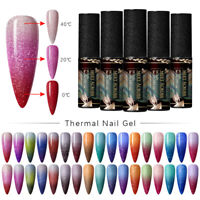 MEET ACROSS Thermal UV Gel Nail Polish 3 Layers Temperature Color Changing Decor