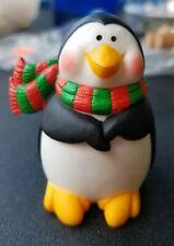 Vintage 1986 Hallmark Merry Miniatures Christmas Winter Penguin Scarf Figure