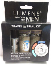 Lumene Skincare for Men Travel & Trial Kit -Shave Scrub, After Shave, Face Cream