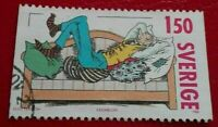Sweden:1980 Swedish Comic Strips 1.50 Kr. Rare & Collectible Stamp.