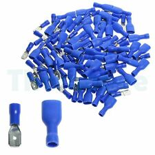100x Crimp Connector Terminal Blue Insulated Spade Electrical Male Female