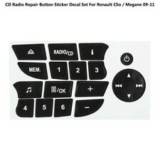 For Renault Clio / Megane 09-11 CD Radio Button Repair Decals Stickers Car