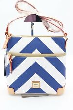 NWT Dooney & Bourke Blue White Chevron Print Crossbody Bag Purse New