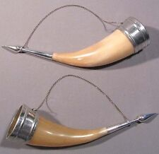 Drinking Horn Russian Old Vintage Caucasian Cossack  Natural Cow Wine Cup
