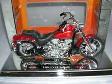 Maisto Harley-Davidson 1984 FXST SOFTAIL rojo rojo, 1:18 MOTO
