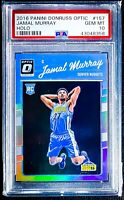 2016-17 Donruss Optic Holo JAMAL MURRAY RC Holo Prizm Silver PSA 10 🔥🔥🔥