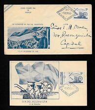 AZ1b Argentina 1944 Cover & Postcard Sobre Primer Dia De Emison Del Reservista