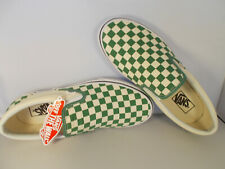 VANS Classic Slip-On Deep Grass Green Checkerboard Shoes Men's Sz 13 New In Box