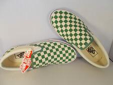 d6254b569b VANS Classic Slip-On Deep Grass Green Checkerboard Shoes Men s Sz 9.5 New  In Box