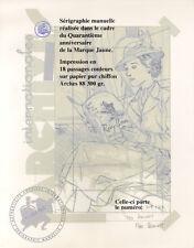 BENOIT SERIGRAPHIE BLAKE ET MORTIMER LA MARQUE JAUNE 1953-1993 -E.A. 20 ex. n°/s