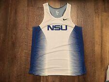 New Nike Women's M NSU Sharks DQT Victory II Singlet Track White Blue MSRP $80