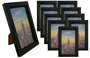 Frame Amo Black Picture Frame with Glass Front Face, Wall or Table, 1, 3,10 Pack