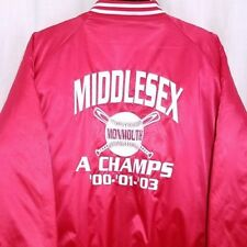 Monmouth Legend League Satin Bomber Jacket Middlesex Slow Pitch Champs Size 2XL