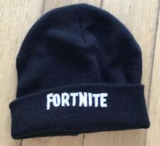 Kids Black Fortnite Beanie Hat
