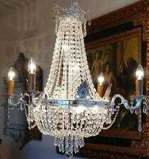 KRISTALL KRONLEUCHTER DECKENLEUCHTER SILBER CHANDELIER LÜSTER LAMPE HANGING LAMP