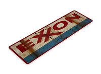 "TIN SIGN ""Exxon"" Metal Decor Wall Art Gas Oil Garage Shop Cave A359 #"