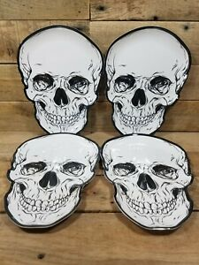 "Halloween Skull Melamine Plate 10"" X 7.3"" Halloween Skeleton Plates"