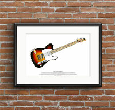 Andy Summers' Fender Telecaster Guitar ART POSTER A2 size