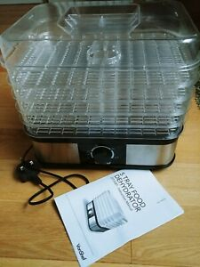 Vonshef 5 tier tray food dehydrator dryer preserve beef jerky - adjustable temp
