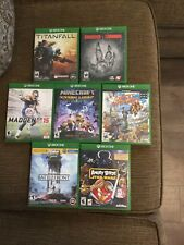 XBox One Games.. Lot of 7.. Titanfall, Evolve, Minecraft, Star Wars Battlefront