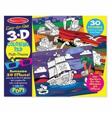 Melissa & Doug Drawing, Sticker And 3-D Activity Books-3 Pak.