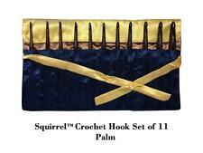 "Squirrel 6"" Long Palm Wood Crochet Hook - Set of 11"