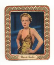 Renate Müller 1936 Aurelia Film Star Embossed Cigarette Card #152