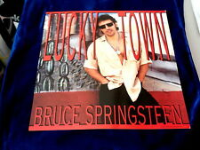 """BRUCE SPRINGSTEEN~ LUCKY TOWN~ RARE~ TWO SIDER~ ~ PROMO POSTER FLAT ~ 12"""" X 12"""""""