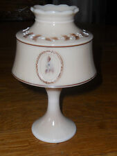Westmoreland Glass Almond Beaded Boquet Cameo Fairy Lamp Artist Signed