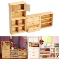 1:12 Dollhouse Wood Furniture Cabinet Cupboard Mini DIY Accessories Wooden