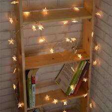 1x LED Sternen Lichterkette Warmweiß Weihnachtsbeleuchtung Vorhang Deko Lampe HJ