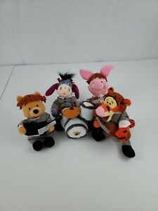 DISNEY WINNIE THE POOH & GANG AS THE BEATLES 1964 GREY SUIT STYLE BEAN BAG PLUSH