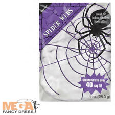 White Spider Cob Web Value Pack Halloween Fancy Dress Costume Party Decoration