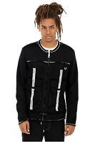 True Religion Men's Raw Edge Active Jacket in True Black