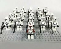 21Pcs Minifigures Star Wars Red&Black Clone Trooper 501st Army Lego Moc Kids Toy