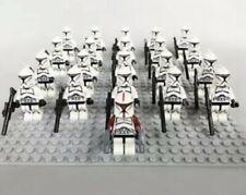 21Pcs Minifigures Star Wars Red&Black Clone Trooper 501st Army Lego Moc Kids Toy