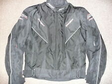 MENS RST TRACTECH TEXTILE UK42 EU52 M MEDIUM BLACK MOTORCYCLE JACKET M MEDIUM